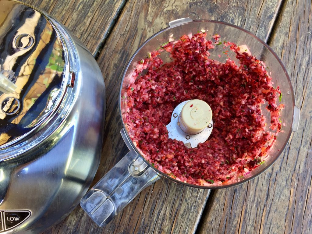 hibiscus copped in food processor