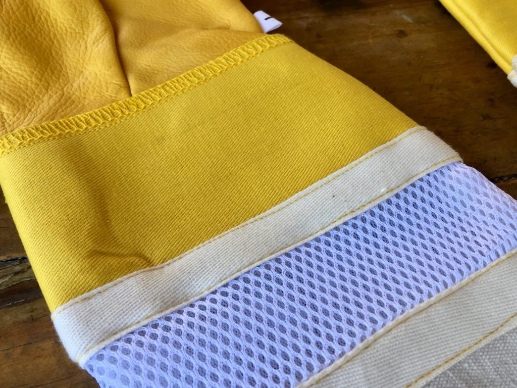 beekeeping gloves, yellow with vent