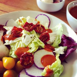 salad with catalina dressing