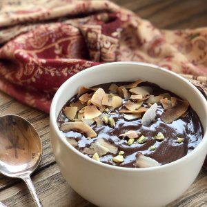 raw honey chocolate pudding