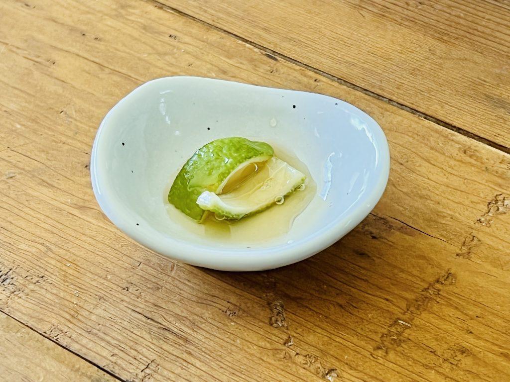 lemon peel in honey
